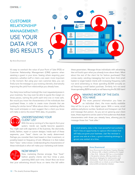 Article-UseDataForResults Customer Relationship Management: Use Your Data for Big Results